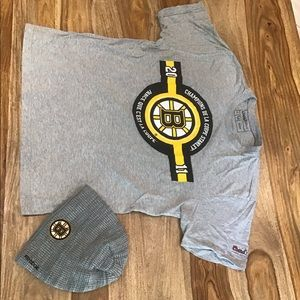 Boston bruins tee and hat